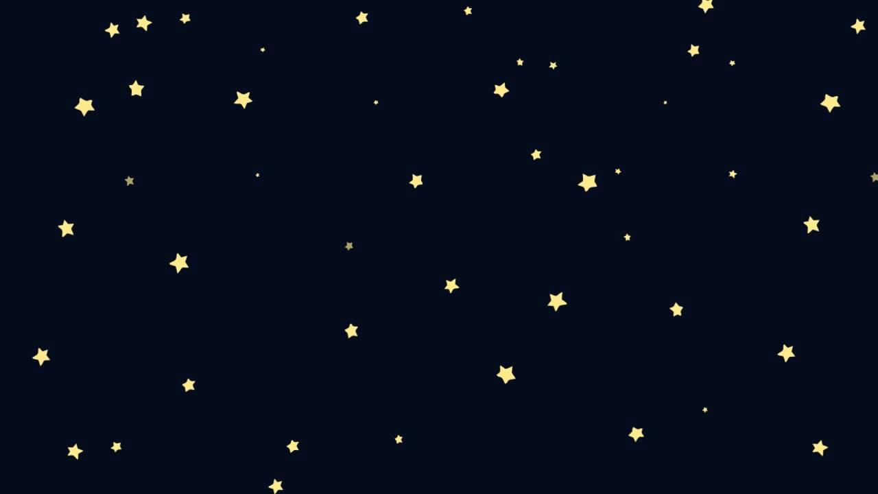 cartoon night sky