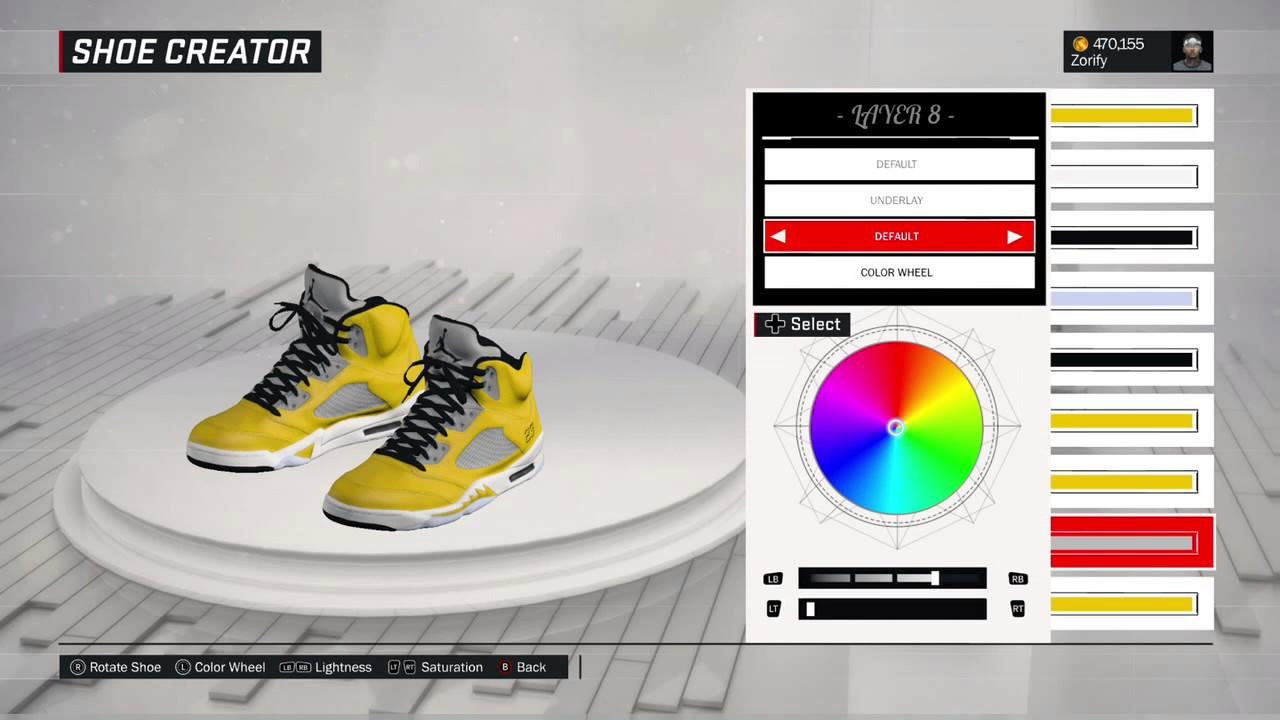 finest selection 93d5f ac2ab NBA 2K17 Shoe Creator - Air Jordan 5