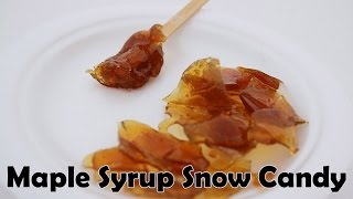 MAPLE SYRUP SNOW CANDY Easy Kids Science