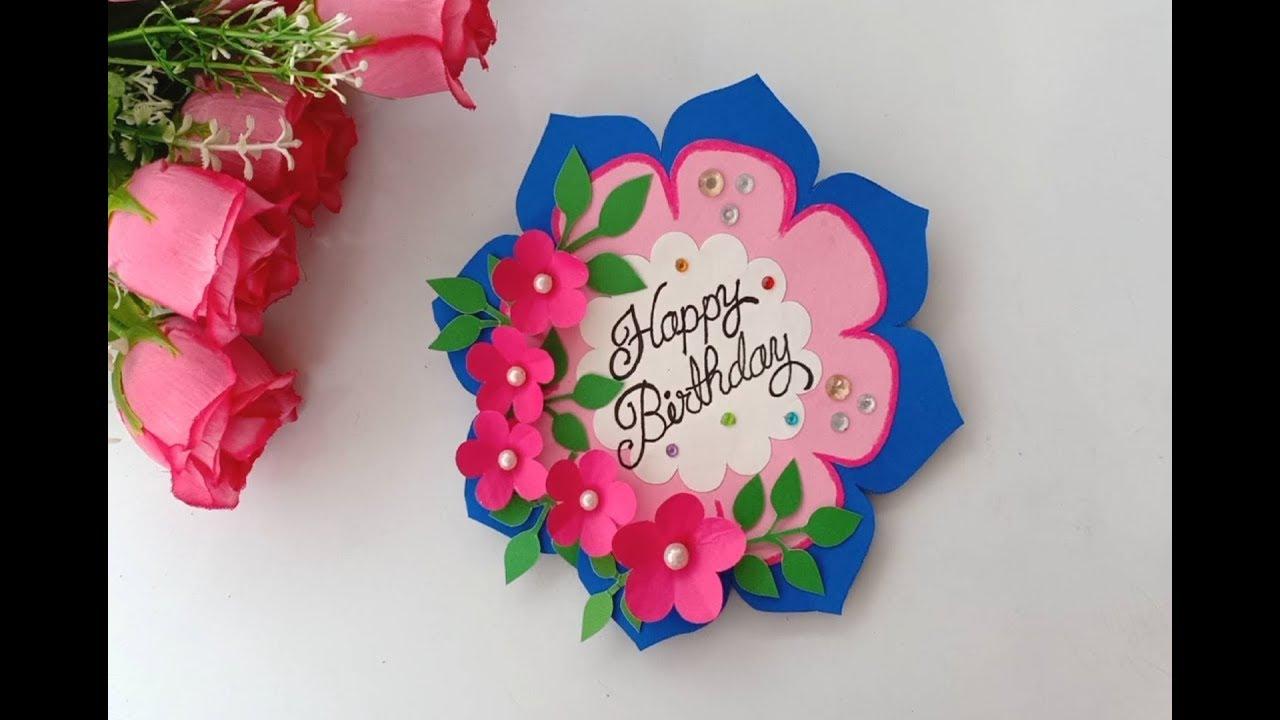 how to make birthday card  handmade easy card tutorial