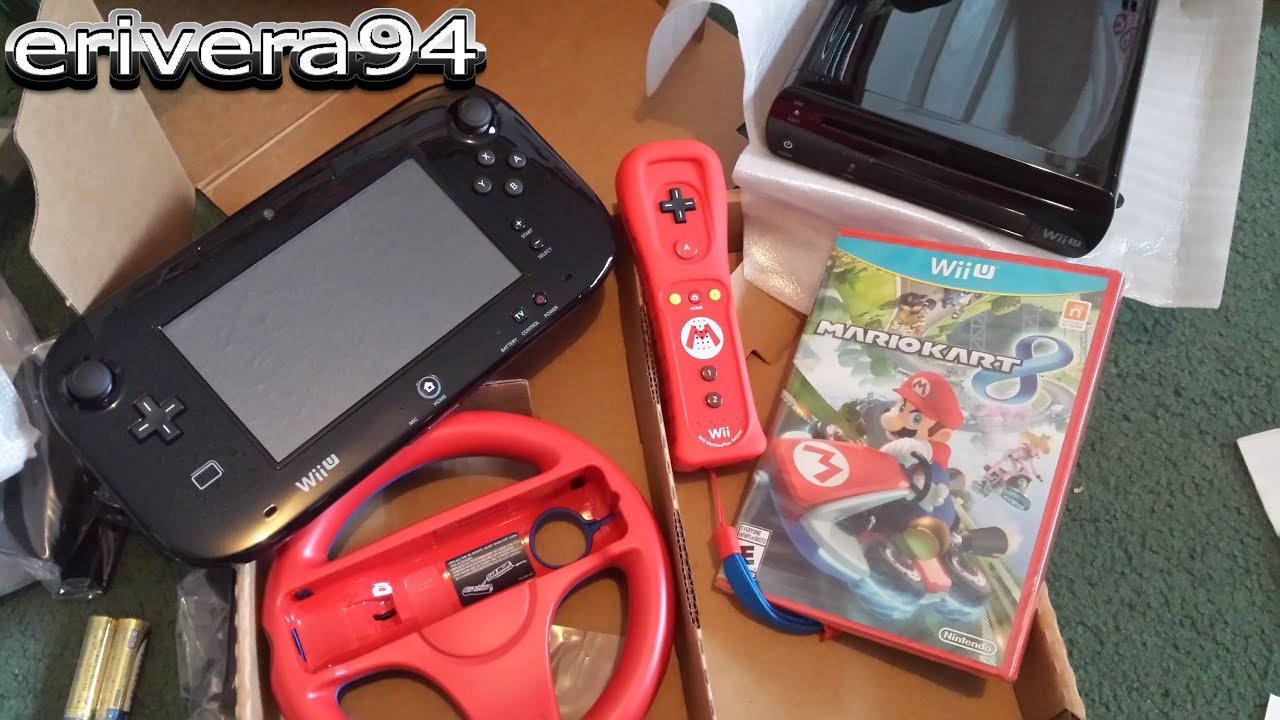 nintendo wii u mario kart 8 bundle 32 gb deluxe unboxing. Black Bedroom Furniture Sets. Home Design Ideas