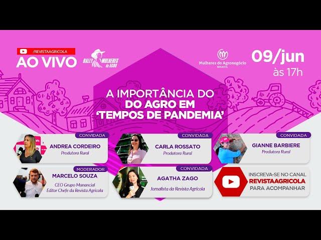 LIVE | A ATUAÇÃO FEMININA NO AGRO EM 'TEMPOS DE PANDEMIA'