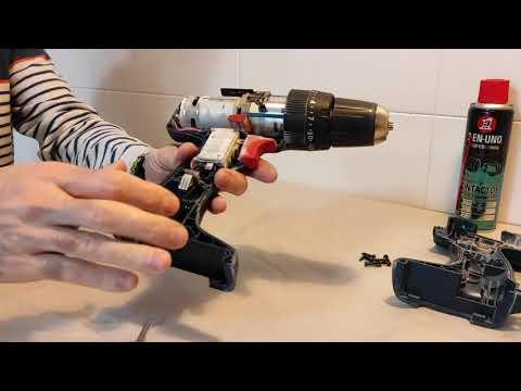 Mantenimiento y limpieza total FACIL de un taladro percutor de batería Bosch
