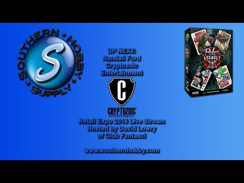 Poker Assault Demo by Cryptozoic Entertainment Southern Hobby Supply Retail Expo 2016