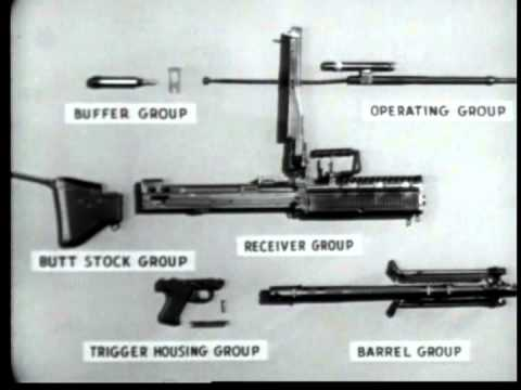 How to Shoot a MACHINE GUN (7.62 mm M60) Training   Firearms Rifle Vintage U.S. Military Video