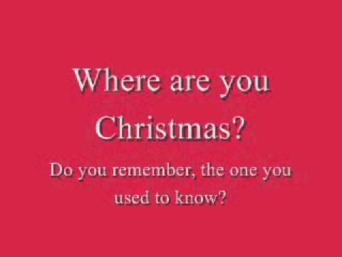 Where Are You Christmas - Faith Hill - Karaoke - YouTube