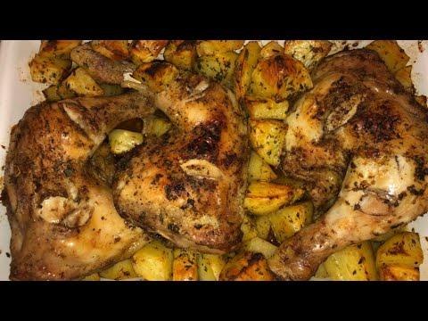 poulet-au-four-et-pommes-de-terre