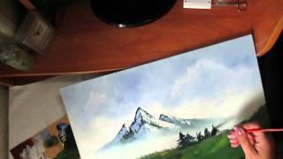 Я  рисую по уроку Боба  Росса.