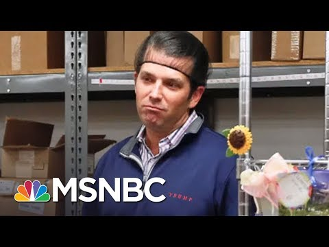 President Donald Trump Jr. Talks To The Press With Big Bowl Of Ice Cream | All In | MSNBC