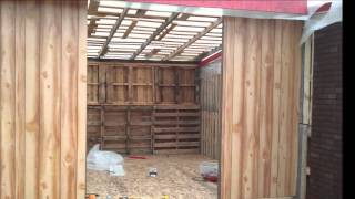 Diy Building A Big Storage S Shed Or Cabin With Free Recycled Pallets!