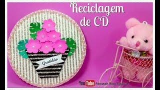 Reciclagem de CD – Quadrinho Decorativo – Quadro da Gratidão