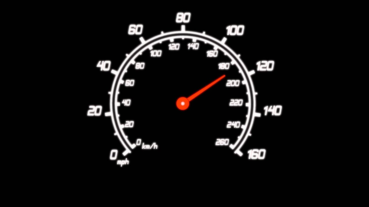 Car Speedometer Gauge  Black Background Animation YouTube