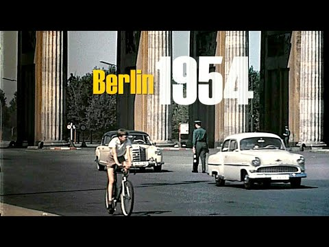 Berlin 1957 - 1960 color -  Berlin Ost & West vor dem Mauerbau - Berlin East & West without wall