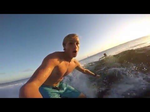 Surfing at Poipu Beach Kauai GoPro