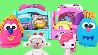 New Surprise Eggs + Easter Baskets My Little Pony Doc Mcstuffins Disney Junior Play Doh Eggs