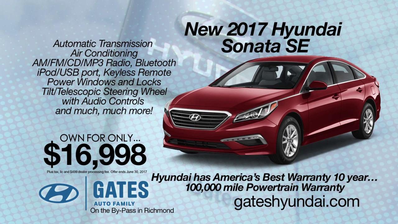 2017 Hyundai Sonata Se Lease For Under 17k Near