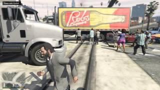 GTA V - AI Chaos at a Railroad Crossing