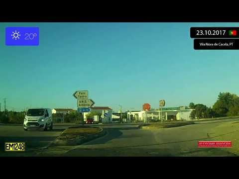 Driving through Algarve (Portugal) from Vila Nova de Cacela to Castro Marim 23.10.2017 Timelapse x4