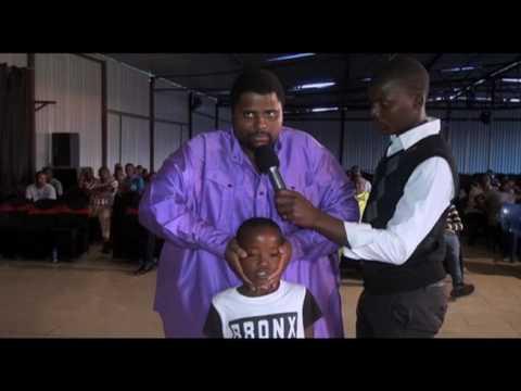 watch as prophet mafa tsoane heals a boy with hearing problem