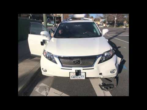 Watch the moment a self-driving Google car sideswipes a bus