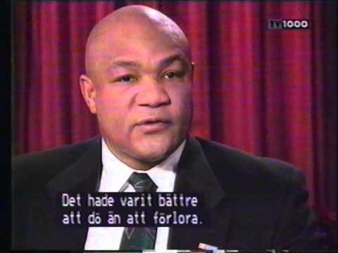 Big George Foreman: interview by Steffen Tangstad (1995)