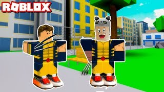 Two of us are superheroes! - Roblox 2 Player Superhero Tycoon with Panda