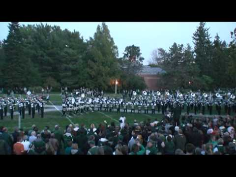 MSU Marching Band -At Adams Field Before the Wisconsin Game