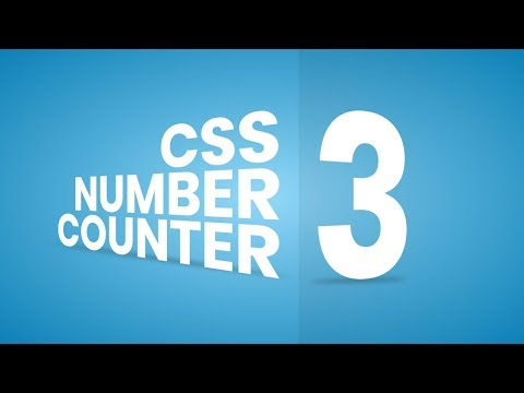 CSS 3D Number Countdown Animation Effects | Html CSS