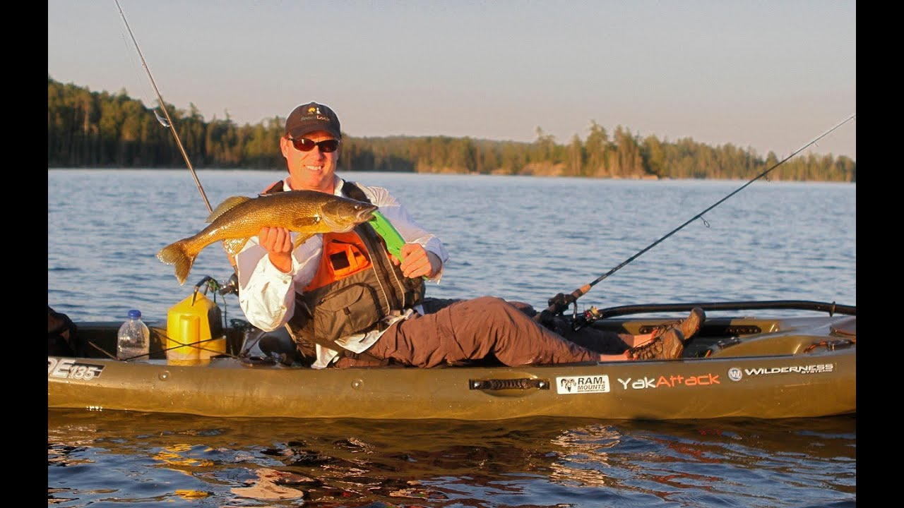 Kayak walleye fishing youtube for How to kayak fish