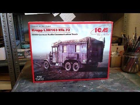 Kit review: ICM Krupp L3H163 Kfz. 72 radio truck in 1/35 scale