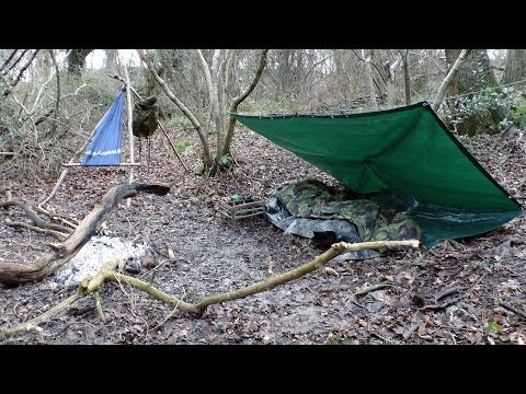 Winter Wild Camping in My Local Woods