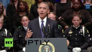 USA: Obama urges US to reject 'despair' as he addresses police in Dallas