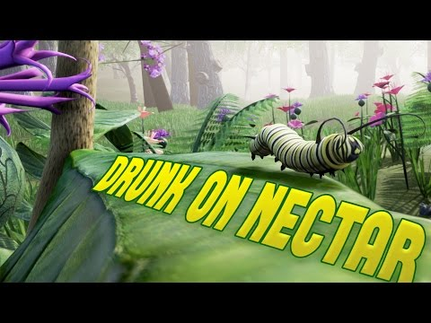 Drunk on Nectar - I'M A BEAUTIFUL BUTTERFLY! - Insect Simulator - Drunk on Nectar Gameplay