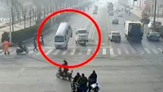 Weird Car Crash Video Goes Viral In China