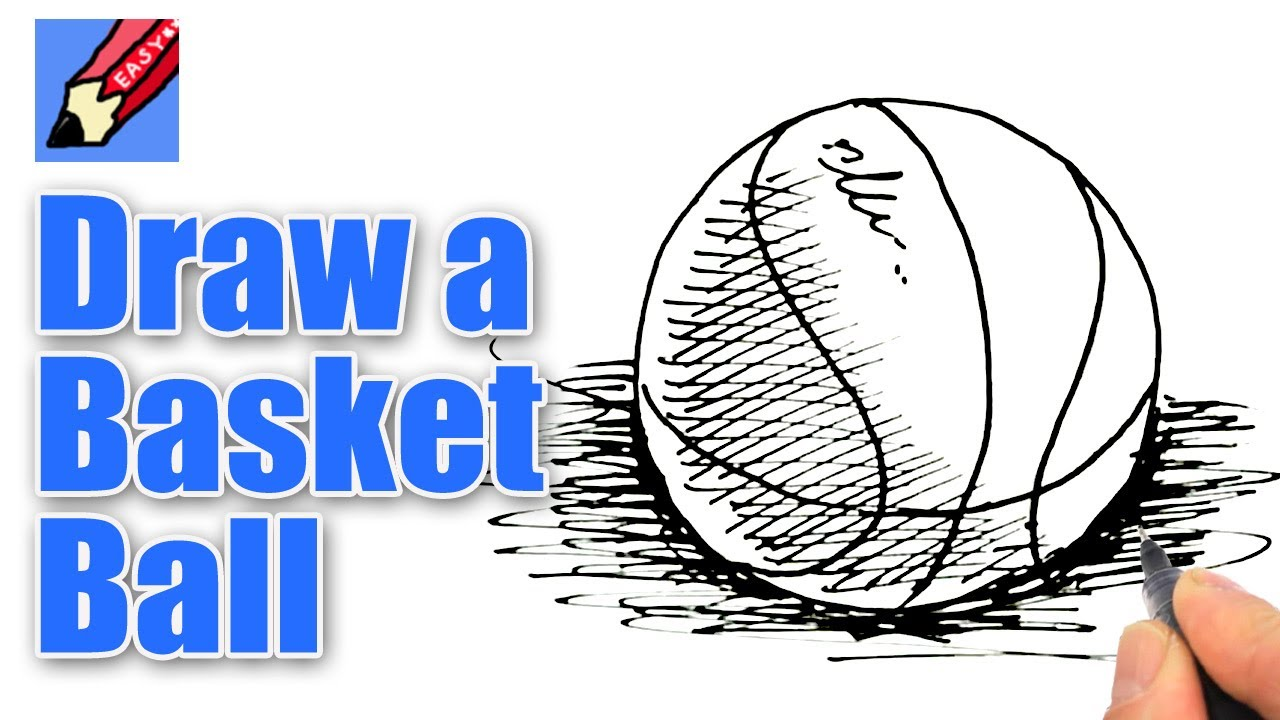 how to draw a basketball real easy youtube