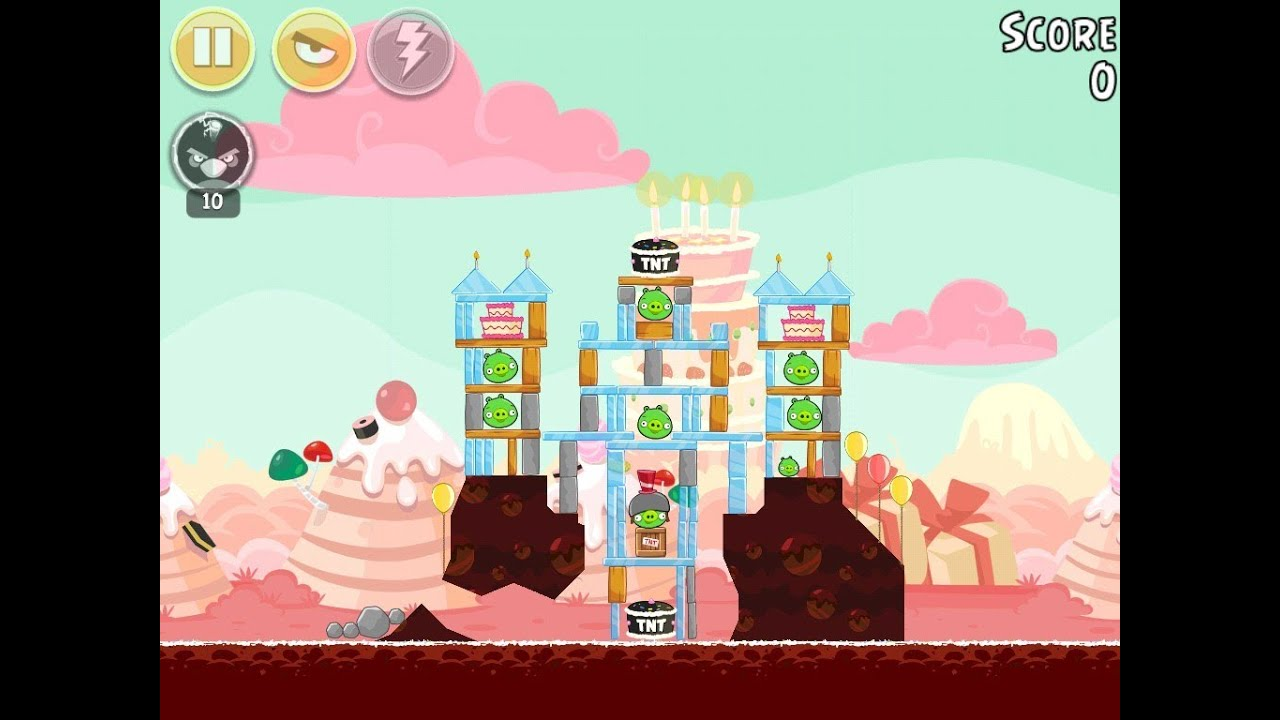 Angry Birds Birdday Party Cake 4 Level 15 Walkthrough 3 Star YouTube