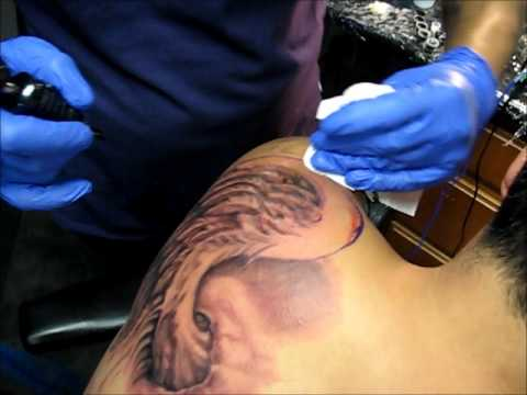 26 Angel Wing Tattoo 1 Of 4 By Marvel Xavier Free Hand Tattoos