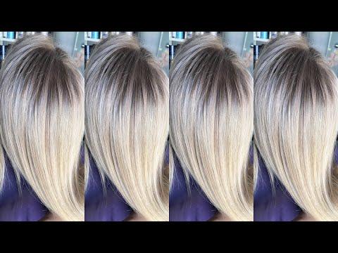 Коррекция мелирование, зигзаг, прима блонд
