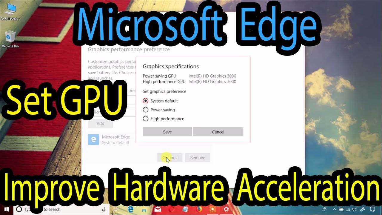 🚀How to Use GPU in Microsoft Edge to improve hardware acceleration on  Windows 10 April 2018 Update