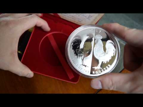 Unboxing 2 beautiful Tokelau silver mirror rooster proof coins, only 500 minted!