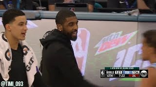 Kyrie Irving in-game interview during the 2019 NBA Rising Stars Challenge