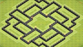 Clash of Clans | TH8 Dark Elixer Farming Base (The Nerd)