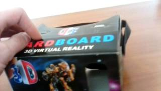 Обзор Cardboard VR(Очки виртуальной реальности для смартфона, модификация Google Cardboard VR. Магазина виртуальной реальности - http://vrs..., 2015-05-01T10:28:17.000Z)