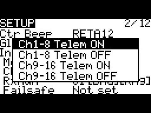 Taranis Q X7 OpenTX Bind Options