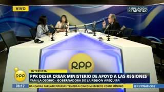 Gobernadora Osorio resaltó importancia de proyectos en el sur del país para el gobierno de Kuczynski