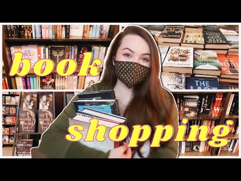 Come Book Shopping With Me! 📚 treating myself to new books | vlog