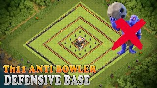 Clash of clans | Th11 Defense base | Unbeatable Anti Bowler Th11 base | Th11 Trophy/Pushing base