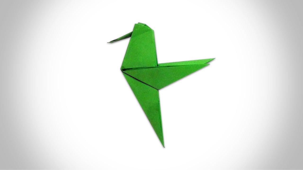 ORIGAMI HUMMINGBIRD - How to Make a Paper Hummingbird ... - photo#1