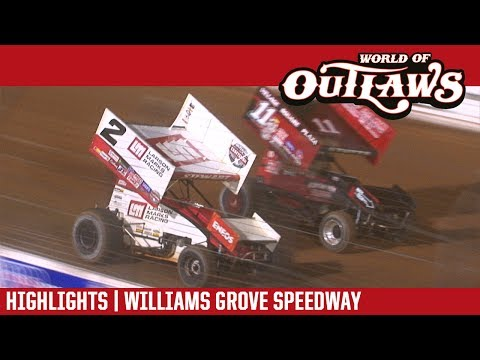 World of Outlaws Craftsman Sprint Cars Williams Grove Speedway May 20, 2017 | HIGHLIGHTS