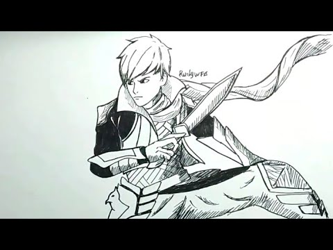 Cara Menggambar Gossen Gusion Hero Mobile Legends How To Draw Gossen